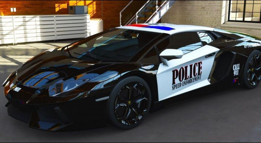 Lamborghini Aventador Police Car