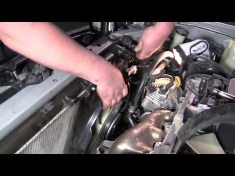 A/C condenser and the radiator