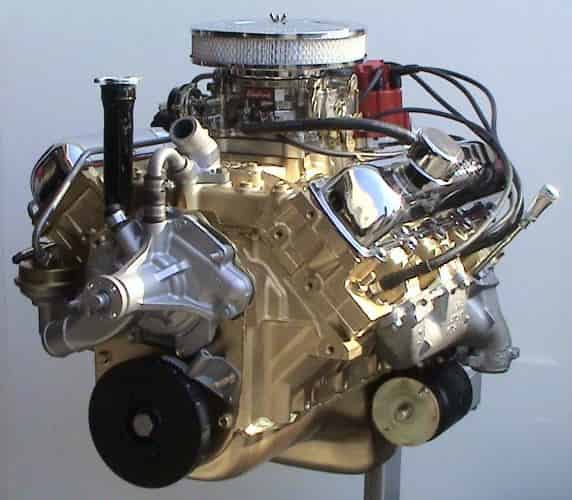 Rebuilt Oldsmobile engine 1