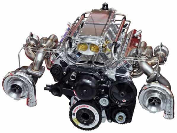 Rebuilt Pontiac engine 1